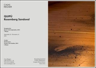 Rosemberg Sandoval, Toribio, performance. Fotógrafo: Marcelo Barraza, Buenos Aires