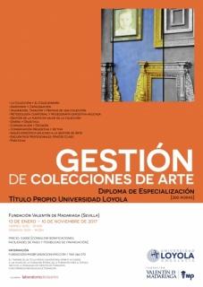 Cartel Gestión de colecciones de arte