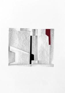 Juan López, FBG-9, 2017. Vinilo, pvc y grafito sobre papel. 29,7x21 cm. - Cortesía de la galería Juan Silió