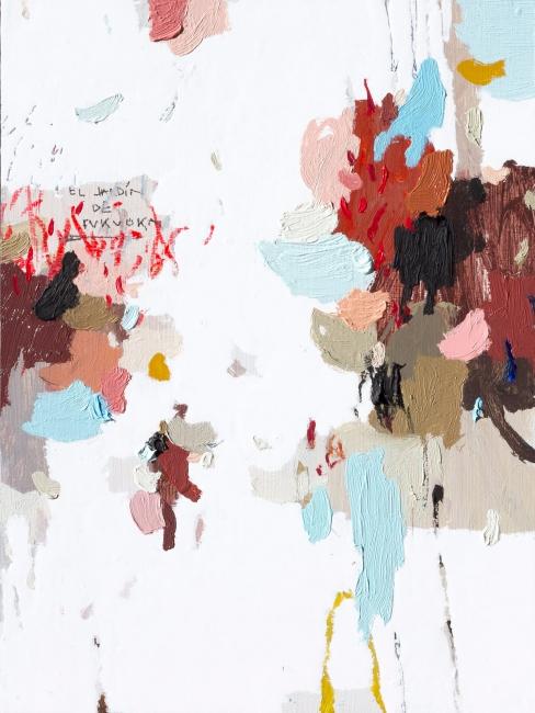 """Rubén Martín de Lucas, """"Little Wild Garden 07"""", ceras, óleo y esmalte."""