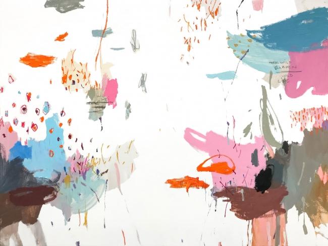 """Rubén Martén de Lucas, """"Wild Garden 07"""", ceras, óleo y esmalte."""