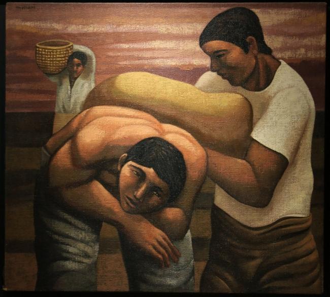 "Mario Mollari, ""Hombres cargando bolsas"""