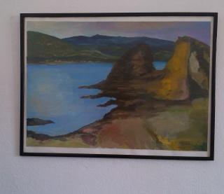 "Obra pictórica de Silvia G.Armesto "" El Viento Tramuntana"" óleo/ carton 83x57 cm 2018"