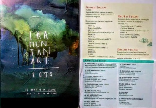 Imágen del extenso catálogo de actividades convocadas para el veraniego evento TRAMINTANART