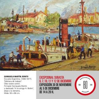 Excepcional Subasta de Arte Argentino. Imagen cortesía Martin Sarachaga