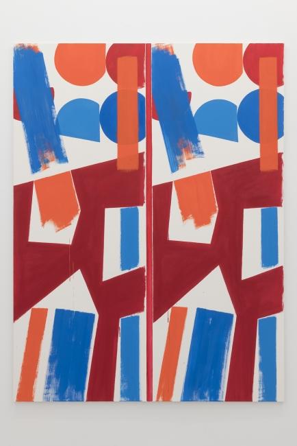 Bernard Piffaretti_Untitled, 2018_Acrylic on canvas_200x150cm