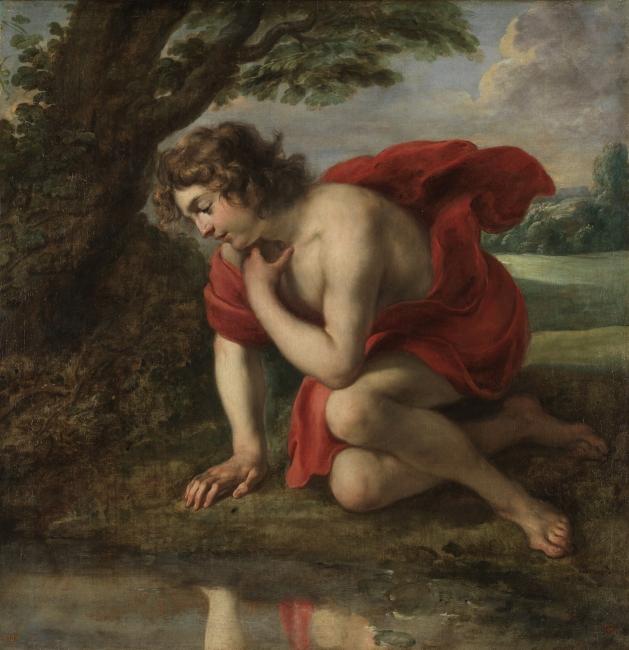 Narciso, Jan Cossiers. Óleo sobre lienzo, 1636-38 © Museo Nacional del Prado — Cortesía del Museo Nacional del Prado