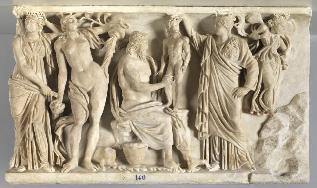 Prometeo y Atenea crean al primer hombre, Taller romano. Mármol, h. 185 © Museo Nacional del Prado — Cortesía del Museo Nacional del Prado