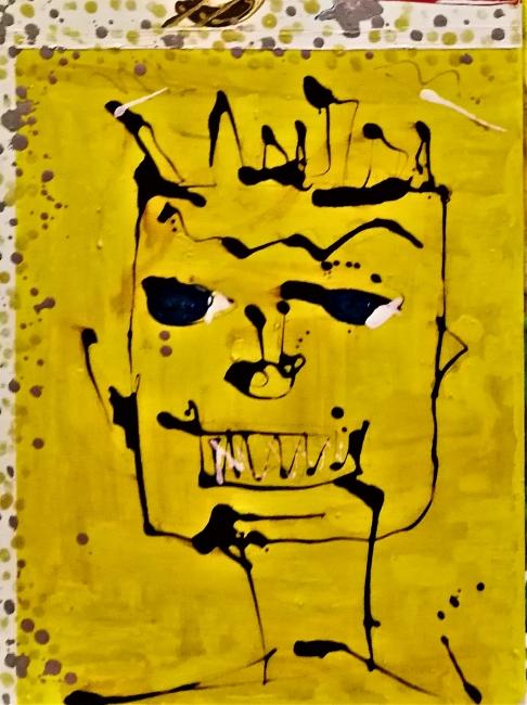 detalle del cuadro homenaje a Basquiat