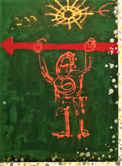 detalle the king Basquiat