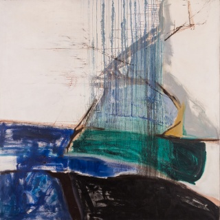 Sin título, 1960-63. Óleo sobre tela. 200 x 200 cm