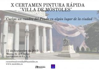 """X Certamen de Pintura Rápida Villa de Móstoles  """"Cuelga un cuadro del Prado en algún lugar de la ciudad"""""""