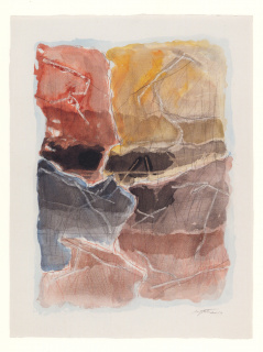 Zonas de Sombra, 2019. Técnica mista s/ papel, 75 x 55 cm