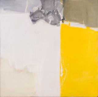 Silvia Torras. Sin título, 1960-63. Óleo sobre tela, 200x200 cm. — Cortesía de Meridiano (Cámara Argentina de Galerías de Arte)