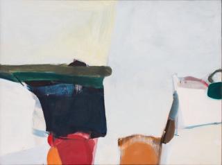 Silvia Torras. Sin título, 1960-1963. Óleo sobre tela, 120x160 cm. — Cortesía de Meridiano (Cámara Argentina de Galerías de Arte)