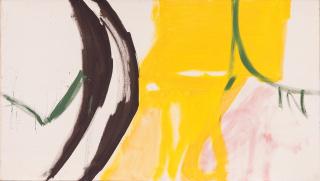 Silvia Torras. Sin título, 1960-1963. Óleo sobre tela, 160x90 cm. — Cortesía de Meridiano (Cámara Argentina de Galerías de Arte)