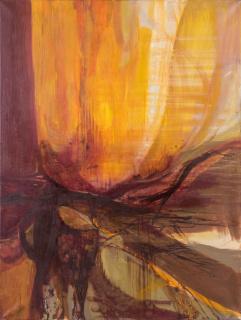 Silvia Torras. Sin título, 1960-1963. Óleo sobre tela, 160x120 cm. — Cortesía de Meridiano (Cámara Argentina de Galerías de Arte)