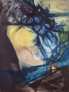 Silvia Torras. Sin título, 1960-1963. Óleo sobre tela, 200x150 cm. — Cortesía de Meridiano (Cámara Argentina de Galerías de Arte)
