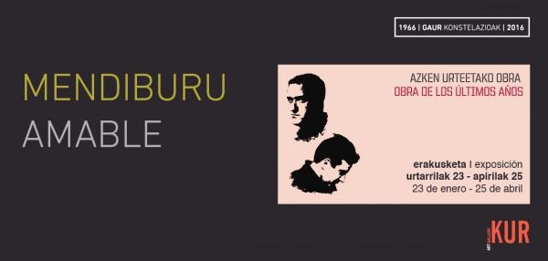 Mendiburu / Amable. Obra de los últimos años