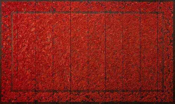 Antonio Santín, Sisyphus Circus, 2016, Oil on Canvas, 86x157 inches