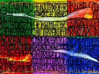 Detalle de obra de Pablo Echaurren