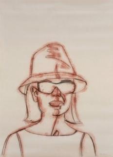 Alex Katz, Ada, 2007. Carboncillo y pigmento en polvo sobre papel. 168 x 122 cm. Copyright: Pedro Albornoz. Cortesía Galería Javier López & Fer Francés, Madrid