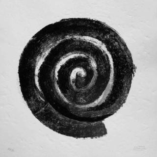 La espiral, aguafuerte, 74x74 cms.