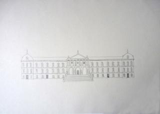NTÒNIA DEL RÍO. Biblioteca nacional de España, 2017. Grafit sobre paper. 29,7 x 42 cm.