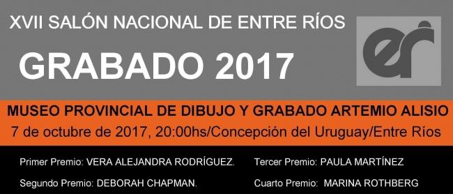 XVIII SALÓN NACIONAL DE ENTRE RÍOS 2017 - MUSEO ARTEMIO ALISIO - DIBUJO