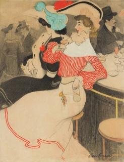 Joan Cardona, Au bar, 1905 – Cortesía del Gremi de Galeries d'Art de Catalunya
