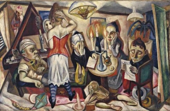 Max Beckmann, Retrato de familia, 1920. The Museum of Modern Art, Nueva York. Donación de Abby Aldrich Rockefeller — Cortesía del Museo Nacional Thyssen-Bornemisza