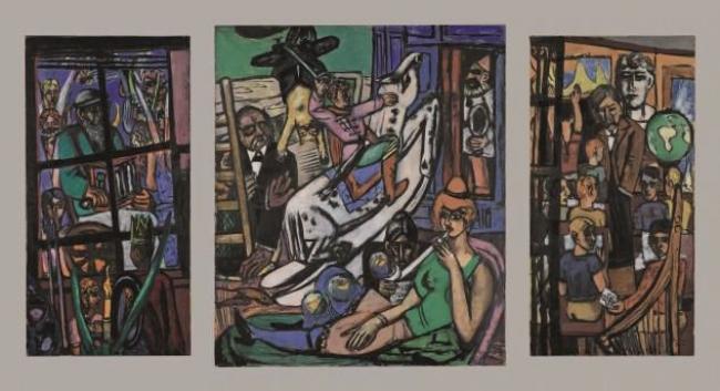 Max Beckmann,El principio, 1946-1949. The Metropolitan Museum of Art, Nueva York. Legado de Miss Adelaide Milton de Groot — Cortesía del Museo Nacional Thyssen-Bornemisza