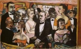 Max Beckmann, Sociedad, París, 1931. Solomon R. Guggenheim Museum, Nueva York — Cortesía del Museo Nacional Thyssen-Bornemisza
