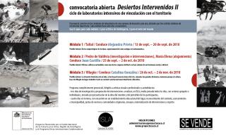 Desiertos Intervenidos II. Imagen cortesía Proyecto SACO