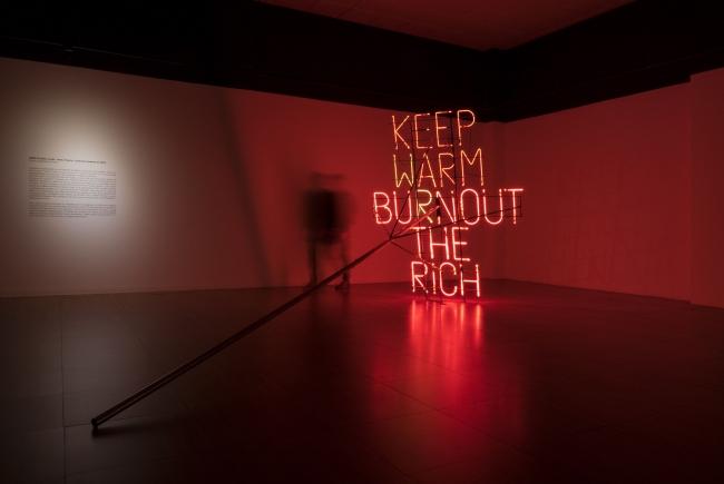 None Futbol Club, Work 054 3, Keep warm burnout the rich 2 — Cortesía de Galería seismasuno