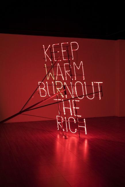 Nøne Futbol Club, Work 054 3, Keep warm burnout the rich 4 — Cortesía de Galería seismasuno
