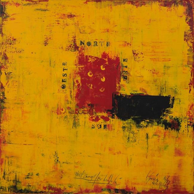 """El lenguaje de la abstracción: Carlos García de la Nuez, """"Mi casa,"""" 2017. Cortesía de Pan American Art Projects."""