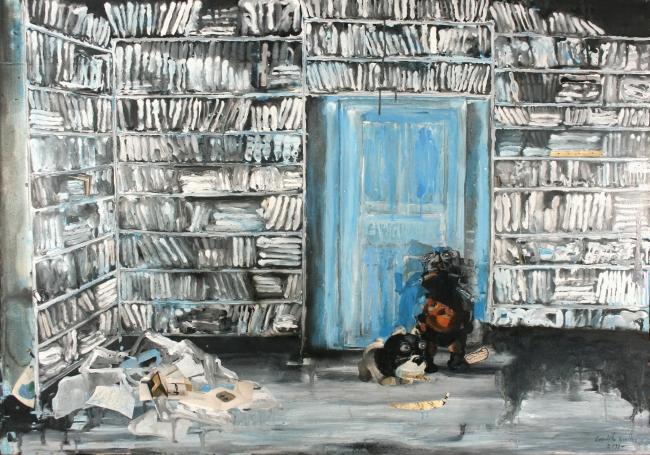 Evaristo Benitez, Acrylic on canvas, 146cm x 97cm — Cortesía de la Galería Contrast