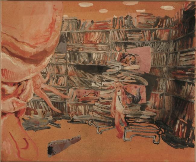 Evaristo Benitez, Acrylic on canvas, 38cm x 46cm — Cortesía de la Galería Contrast