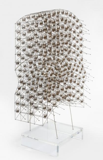 "Günter Haese, 360781, ""Boreas"", brass and phosphorous bronze 1980, 49 x 30 x 18 cm. — Cortesía de la Galería Elvira González"