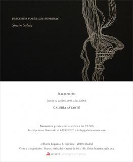 Invitación exposición individual y encuentro con la artista