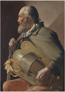Ciego tocando la zanfonía, Georges de la Tour 1620 - 1630. Óleo sobre lienzo, 86 x 62,5 cm. Museo Nacional del Prado