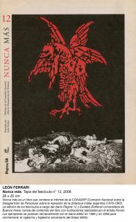 León Ferrari. Nunca más. Tapa del fascículo nº 12, 2006. 28x20 cm. — Cortesía del Museo Nacional Centro de Arte Reina Sofía