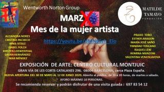 EXPOSICIÓN MES DE LA MUJER ARTISTA EN CENTRO CULTURAL MONTJUIC DE BARCELONA