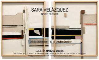 """Sara Velázquez, """"Bigger than the frame"""" I y II. 2020. Madera y técnica mixta sobre lienzo. 150x120 cm cada una — Cortesía de la Galería Manuel Ojeda"""