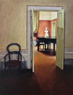 José María Peña, El piano, oli sobre tela — Cortesía de Subex Galeria d'Art