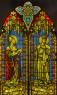 Sant Ferran i Sant Agustí (Successors Camaló) - 246,5 x 146,5 cm - Vitrall emplomat. Grisalla, groc d'argent i esmalt — Cortesía del Museu del Modernisme Barcelona