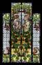 La primavera i la ploma (Maumejean Hermanos) - 280 x 142 cm - Vidriera emplomada. Grisalla i esmalts — Cortesía del Museu del Modernisme Barcelona