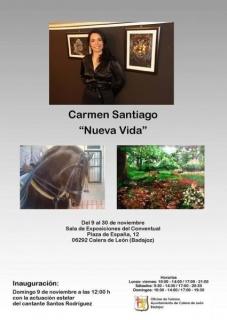 """Exposición individual \""""Nueva Vida\"""" de Carmen Santiago"""