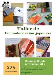 cartel curso encuadernado japonés